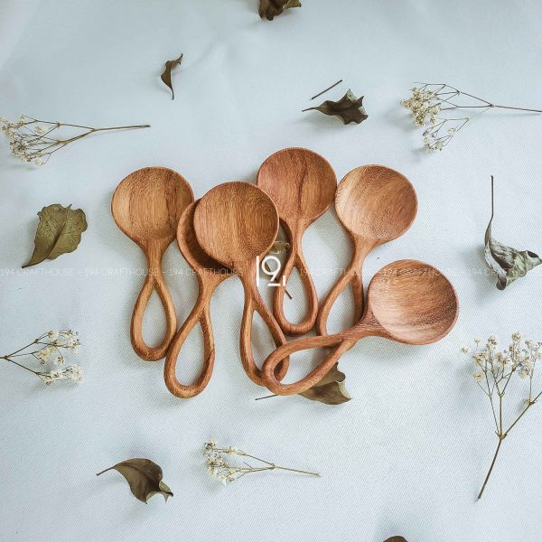 Hand carved wooden spoon and fork wooden utensils cookware eco kitchen and dining table decor and gift handmade by 194 Craft House 396 scaled