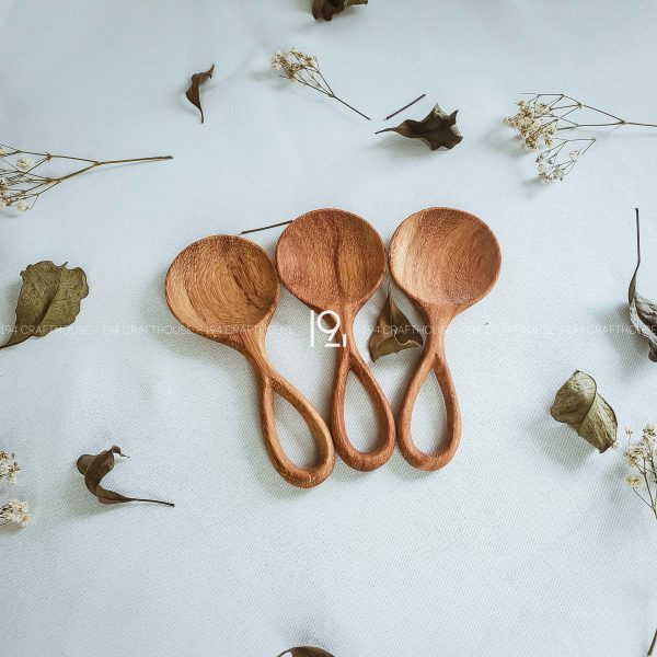 Hand carved wooden spoon and fork wooden utensils cookware eco kitchen and dining table decor and gift handmade by 194 Craft House 397 scaled
