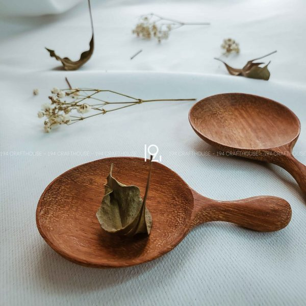 Hand carved wooden spoon and fork wooden utensils cookware eco kitchen and dining table decor and gift handmade by 194 Craft House 444 scaled