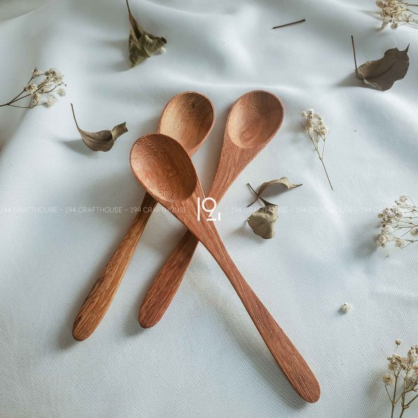 Hand carved wooden spoon and fork wooden utensils cookware eco kitchen and dining table decor and gift handmade by 194 Craft House 180 scaled