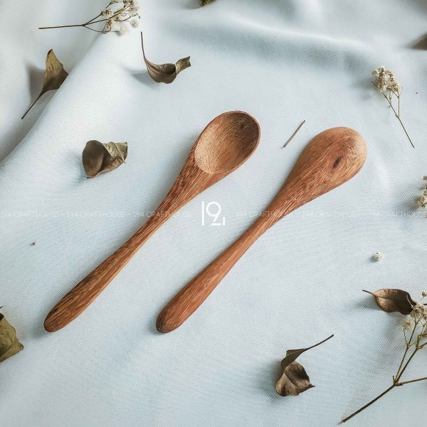 Hand carved wooden spoon and fork wooden utensils cookware eco kitchen and dining table decor and gift handmade by 194 Craft House 188 scaled