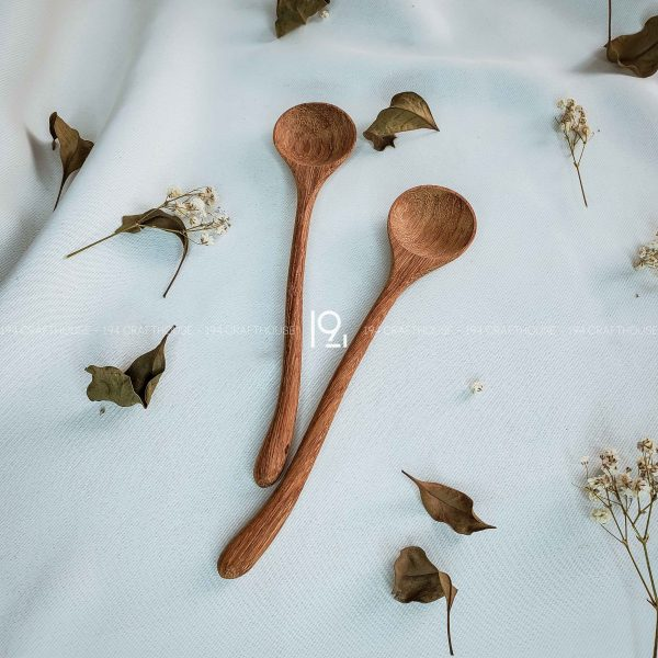 Hand carved wooden spoon and fork wooden utensils cookware eco kitchen and dining table decor and gift handmade by 194 Craft House 198 scaled