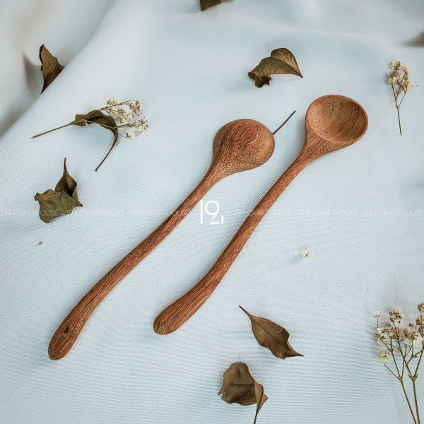 Hand carved wooden spoon and fork wooden utensils cookware eco kitchen and dining table decor and gift handmade by 194 Craft House 202 scaled