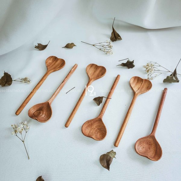 Hand carved wooden spoon and fork wooden utensils cookware eco kitchen and dining table decor and gift handmade by 194 Craft House 384 scaled