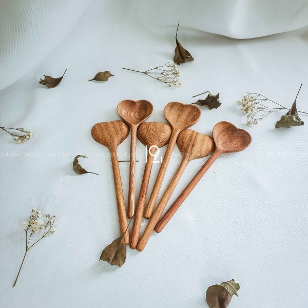 Hand carved wooden spoon and fork wooden utensils cookware eco kitchen and dining table decor and gift handmade by 194 Craft House 387 scaled