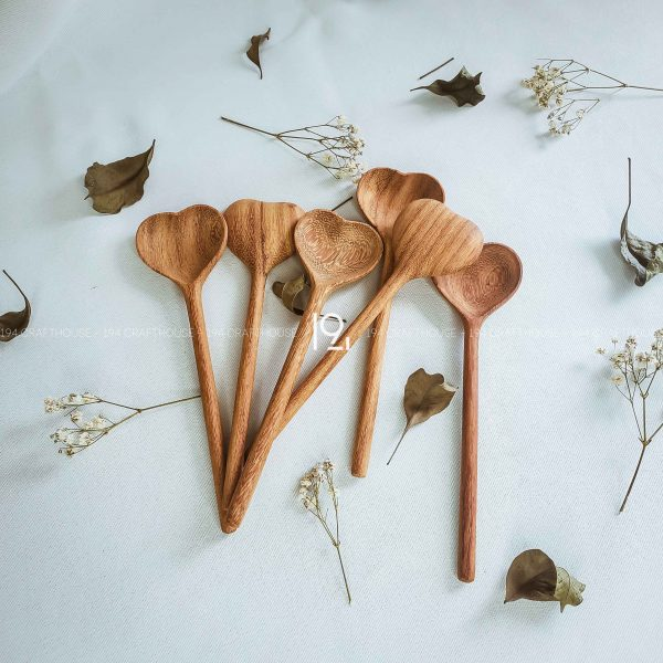 Hand carved wooden spoon and fork wooden utensils cookware eco kitchen and dining table decor and gift handmade by 194 Craft House 395 scaled