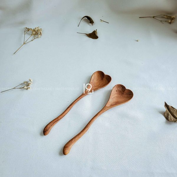 Hand carved wooden spoon and fork wooden utensils cookware eco kitchen and dining table decor and gift handmade by 194 Craft House 497 scaled