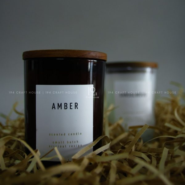 Amber-Candle and Holders handmade by 194 Craft House Eco friendly and sustainable products for eco home and living decor