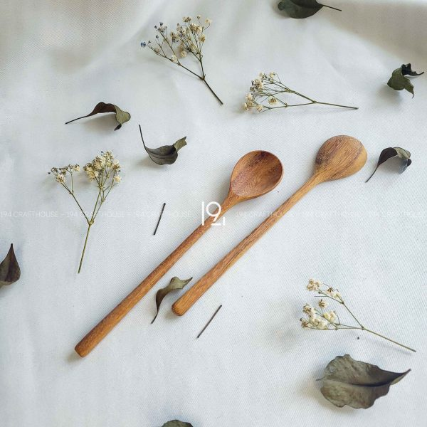 Hand carved wooden spoon and fork wooden utensils cookware eco kitchen and dining table decor and gift handmade by 194 Craft House 206 scaled