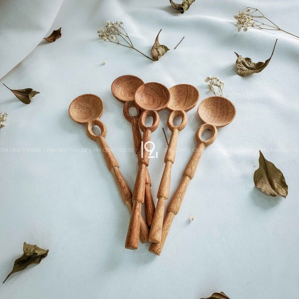 Hand carved wooden spoon and fork wooden utensils cookware eco kitchen and dining table decor and gift handmade by 194 Craft House 215 scaled