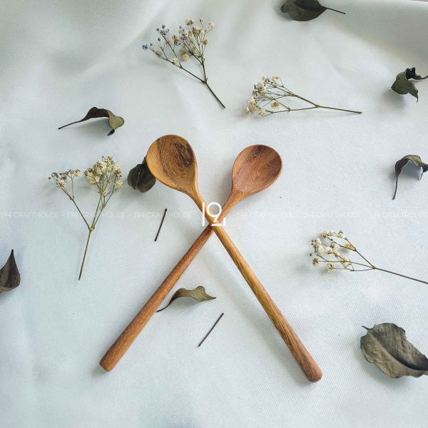 Hand carved wooden spoon and fork wooden utensils cookware eco kitchen and dining table decor and gift handmade by 194 Craft House 218 scaled