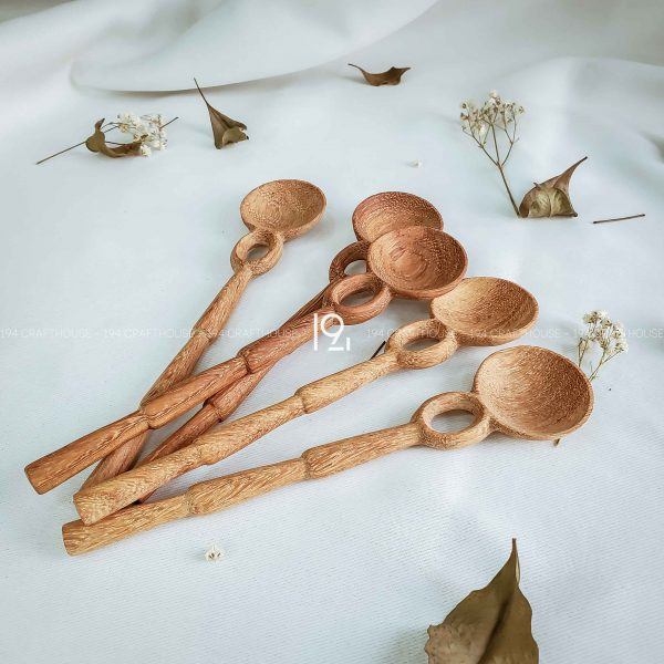 Hand carved wooden spoon and fork wooden utensils cookware eco kitchen and dining table decor and gift handmade by 194 Craft House 220 scaled