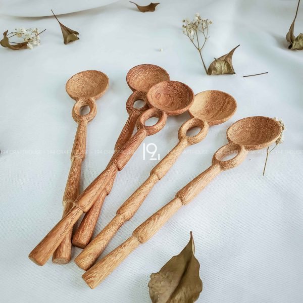Hand carved wooden spoon and fork wooden utensils cookware eco kitchen and dining table decor and gift handmade by 194 Craft House 221 scaled