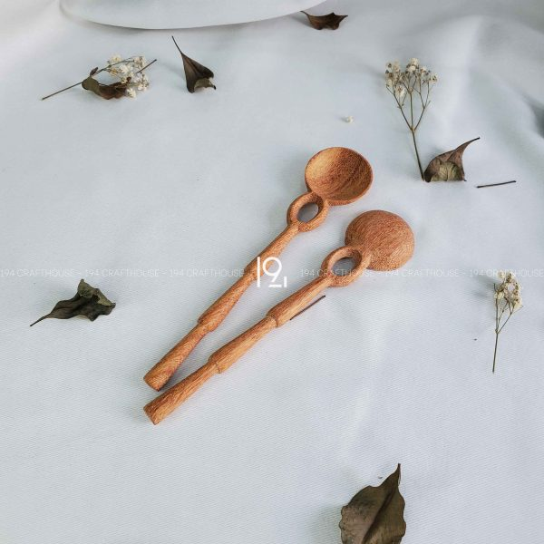 Hand carved wooden spoon and fork wooden utensils cookware eco kitchen and dining table decor and gift handmade by 194 Craft House 227 scaled
