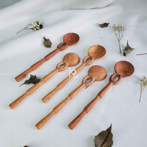 Hand carved wooden spoon and fork wooden utensils cookware eco kitchen and dining table decor and gift handmade by 194 Craft House 229 scaled