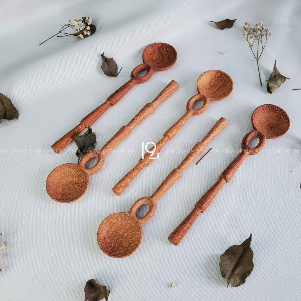 Hand carved wooden spoon and fork wooden utensils cookware eco kitchen and dining table decor and gift handmade by 194 Craft House 233 scaled