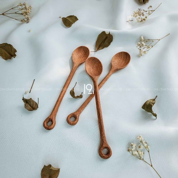 Hand carved wooden spoon and fork wooden utensils cookware eco kitchen and dining table decor and gift handmade by 194 Craft House 244 scaled