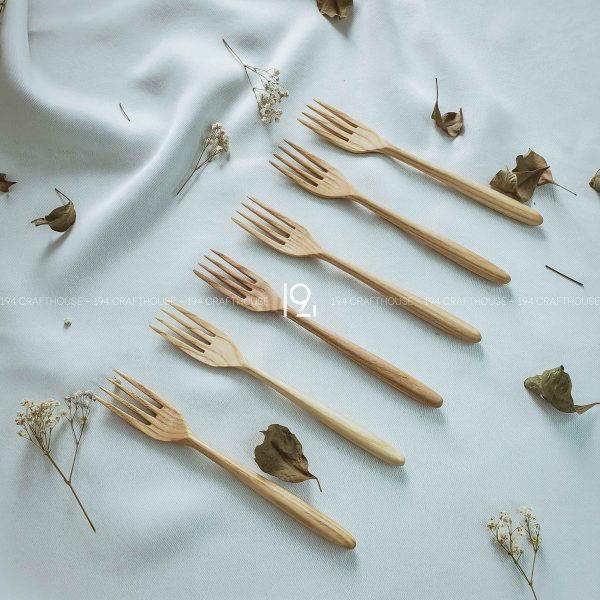Hand carved wooden spoon and fork wooden utensils cookware eco kitchen and dining table decor and gift handmade by 194 Craft House 282 scaled