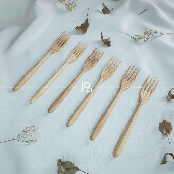 Hand carved wooden spoon and fork wooden utensils cookware eco kitchen and dining table decor and gift handmade by 194 Craft House 295 scaled