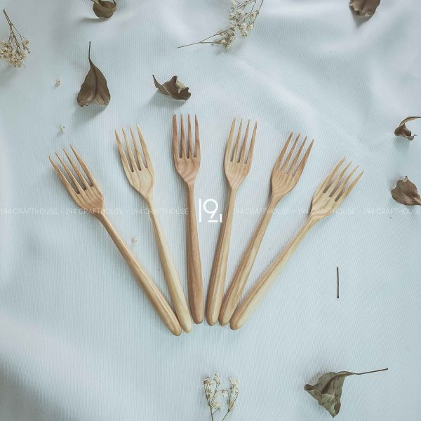 Hand carved wooden spoon and fork wooden utensils cookware eco kitchen and dining table decor and gift handmade by 194 Craft House 296 scaled