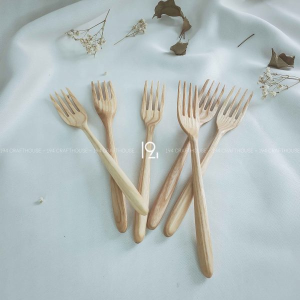 Hand carved wooden spoon and fork wooden utensils cookware eco kitchen and dining table decor and gift handmade by 194 Craft House 306 scaled