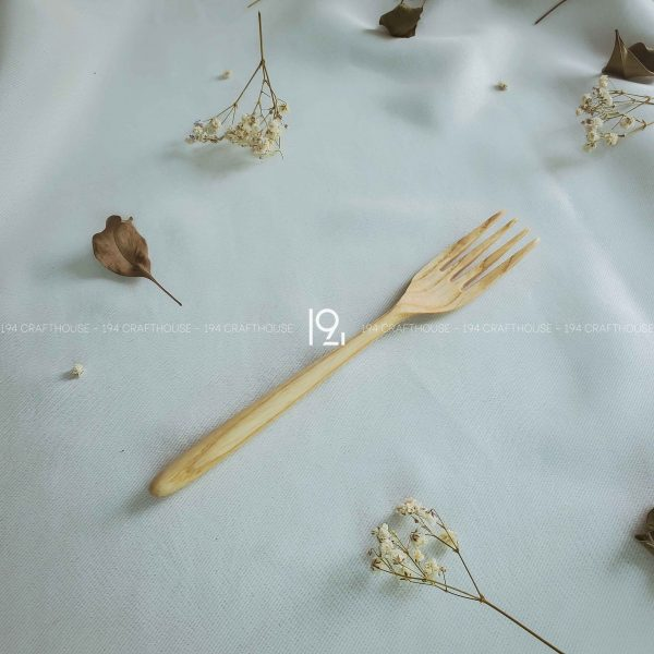 Hand carved wooden spoon and fork wooden utensils cookware eco kitchen and dining table decor and gift handmade by 194 Craft House 308 scaled