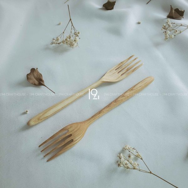Hand carved wooden spoon and fork wooden utensils cookware eco kitchen and dining table decor and gift handmade by 194 Craft House 309 scaled