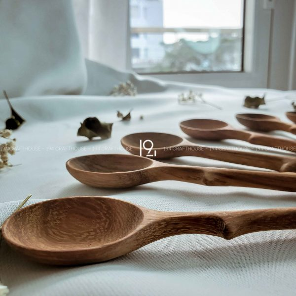 Hand carved wooden spoon and fork wooden utensils cookware eco kitchen and dining table decor and gift handmade by 194 Craft House 337 scaled