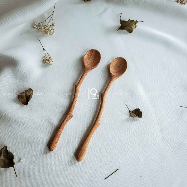 Hand carved wooden spoon and fork wooden utensils cookware eco kitchen and dining table decor and gift handmade by 194 Craft House 343 scaled