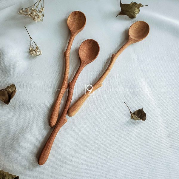 Hand carved wooden spoon and fork wooden utensils cookware eco kitchen and dining table decor and gift handmade by 194 Craft House 345 scaled
