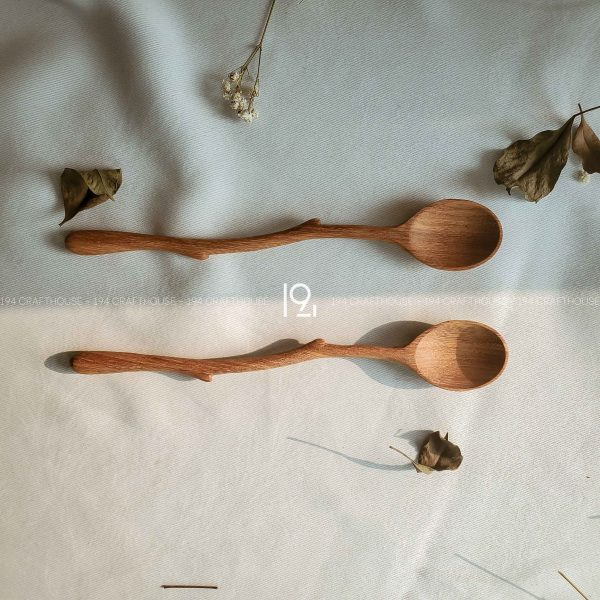 Hand carved wooden spoon and fork wooden utensils cookware eco kitchen and dining table decor and gift handmade by 194 Craft House 360 scaled