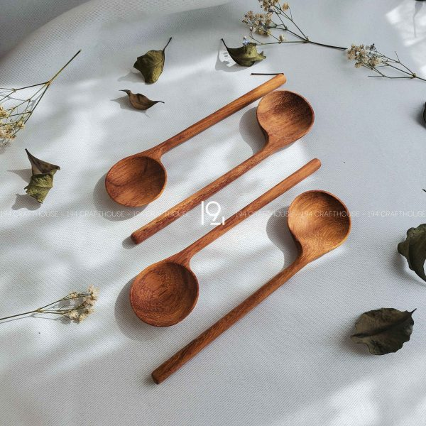 Hand carved wooden spoon and fork wooden utensils cookware eco kitchen and dining table decor and gift handmade by 194 Craft House 366 scaled