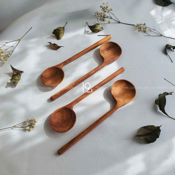 Hand carved wooden spoon and fork wooden utensils cookware eco kitchen and dining table decor and gift handmade by 194 Craft House 375 scaled