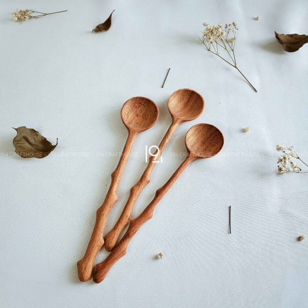 Hand carved wooden spoon and fork wooden utensils cookware eco kitchen and dining table decor and gift handmade by 194 Craft House 88 scaled