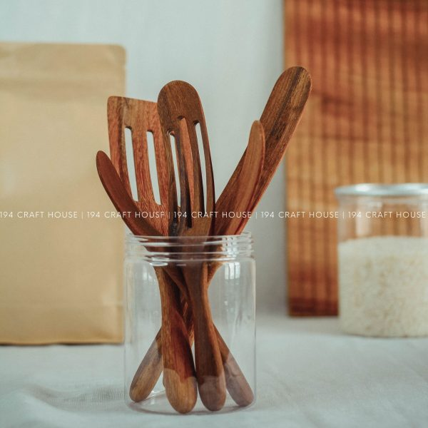 Wooden Slotted Spurtle & Spatula Set